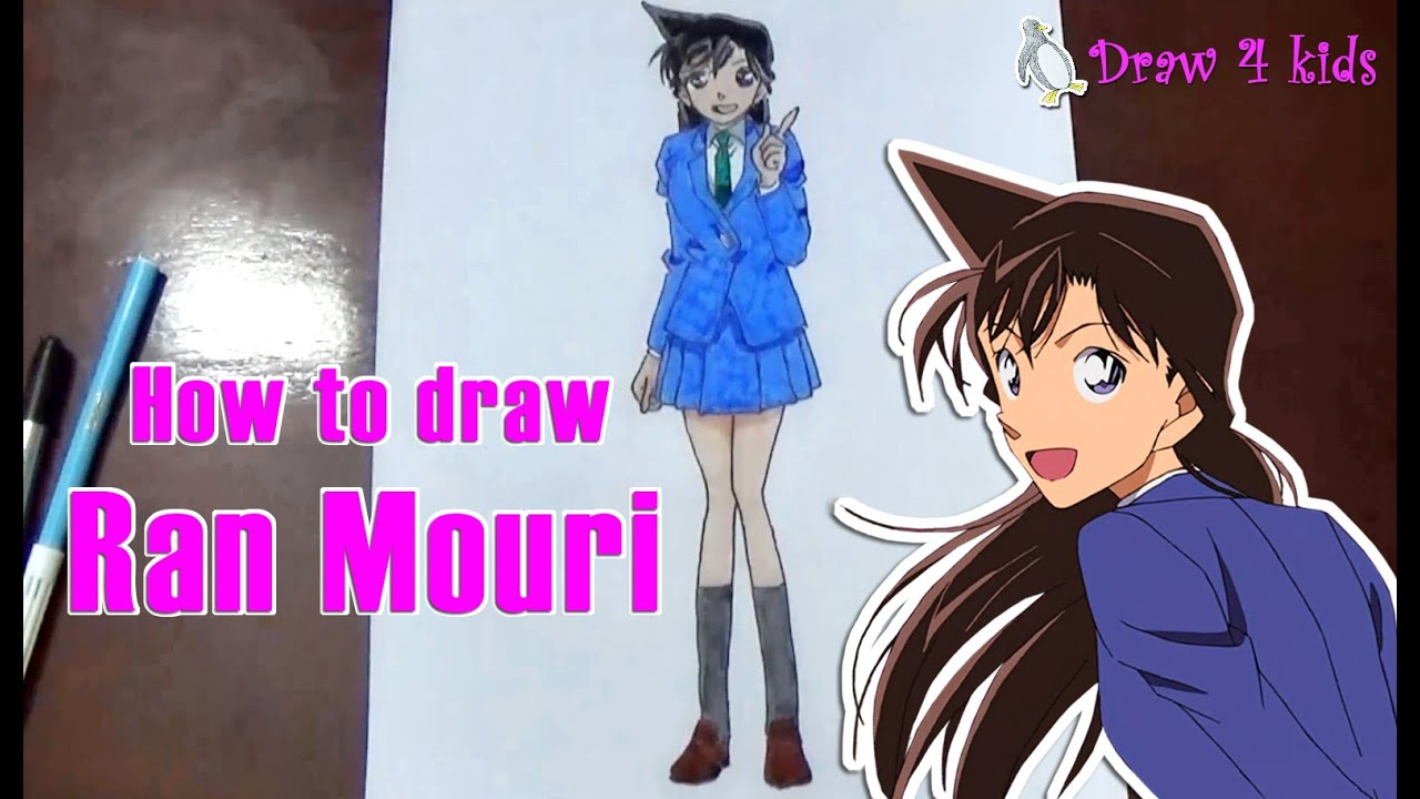 How to draw Ran Mouri from Detective Conan | D4K