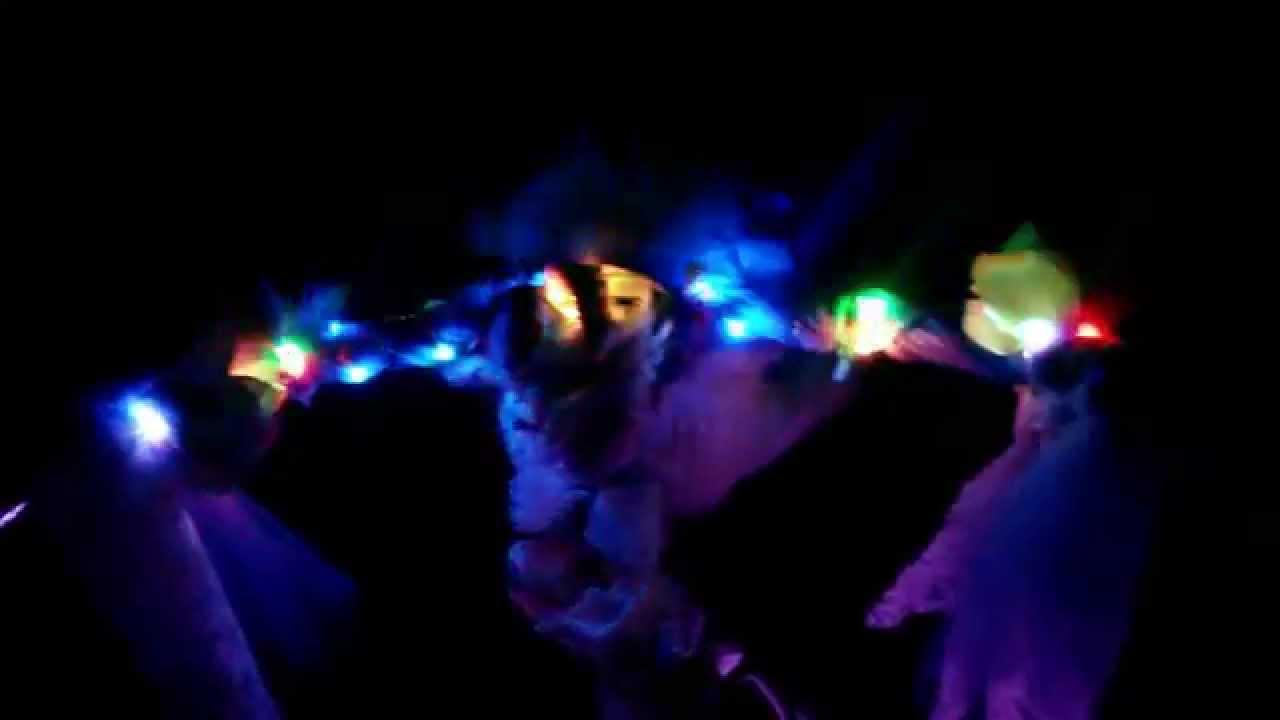 El wire illuminated Burning Man Beach Cruiser - YouTube