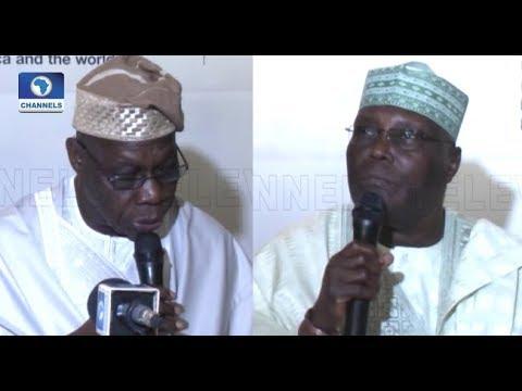 2019 Pres'l Election: Obasanjo Endorses Atiku