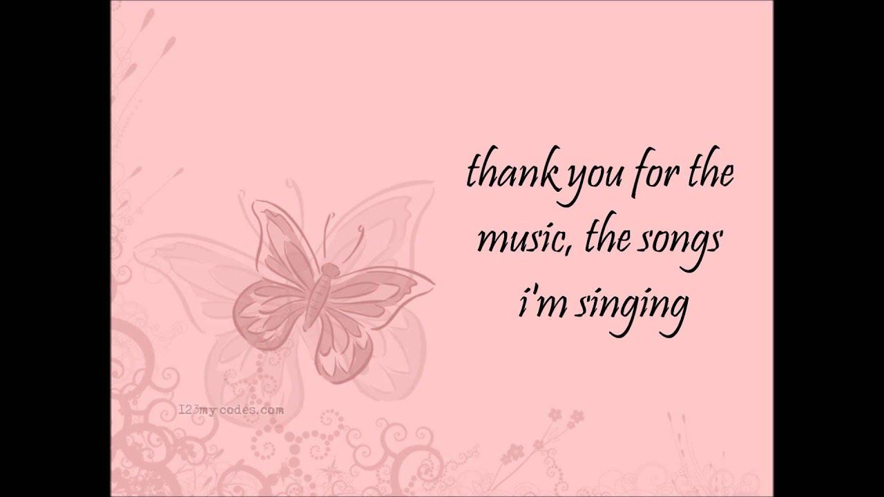 Amanda seyfried thank you for the music lyrics youtube kristyandbryce Choice Image