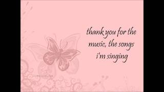 Amanda Seyfried - Thank you for the music [lyrics]