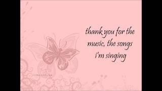 Amanda Seyfried - Thank you for the music [lyrics]