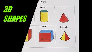 shapes draw drawing step simple easy shape steps line colored different