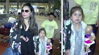 Lara Dutta Spotted With CUTE Daughter Saira Bhupathi At Mumbai Airport