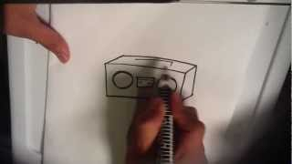 How to Draw Boombox - Easy Things to Draw