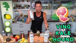 Shockingly Clean Spring Cocktail -VING Vodka Kale Hound!