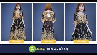 Đầm Xòe Phối Họa Tiết Dịu Dàng- [Zonbig.com]