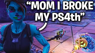 Raging Scammer Breaks His PS4 Over Guns!! 🤡😂 (Scammer Get Scammed) Fortnite Save The World
