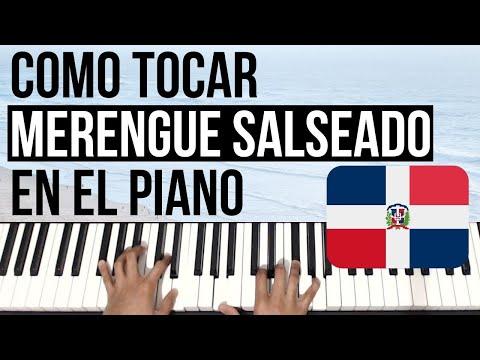 Como Tocar MERENGUE SALSEADO en el Piano (TRADICIONAL DOMINICANO)