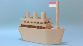 Cara Membuat Miniatur Kapal Dari Kardus Bekas