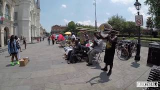 Jackson Square Allstars and more Jazz Street Musicians in New Orleans