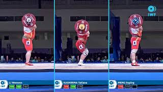 Clean and Jerk lifts comparison - IWF WC Pattaya - Women plus 87kg