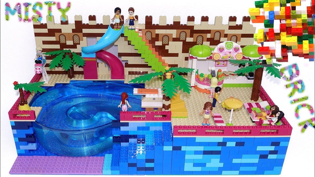 Custom Lego Friends Swimming Pool 3 By Misty Brick Youtube