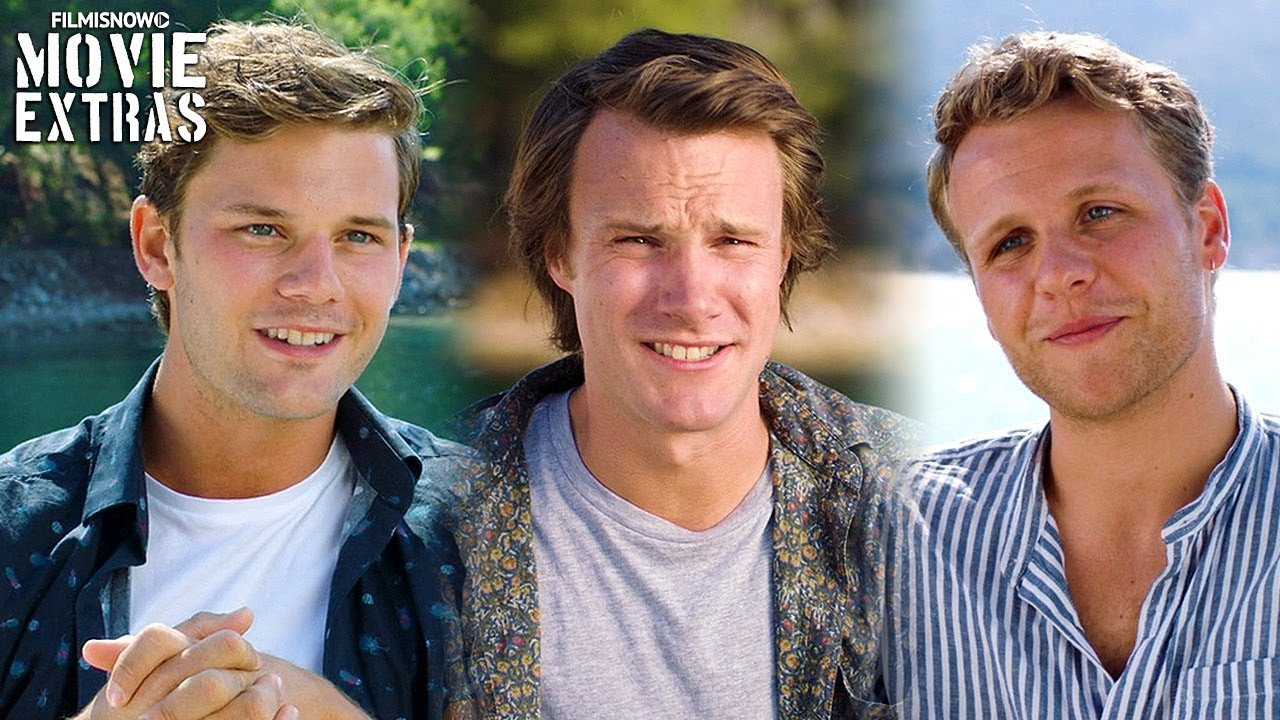 "MAMMA MIA! HERE WE GO AGAIN | On-set with Young Dads ""Jeremy Irvine, Josh Dylan & Hugh Skinner"""