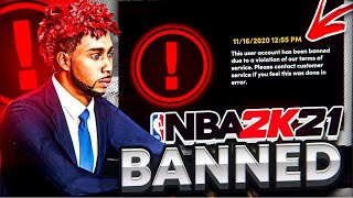 2K BANNED ME ON NBA2K21 NEXT-G…