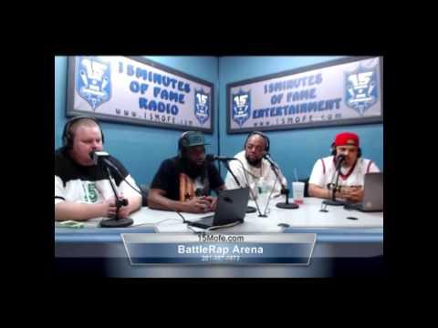 URL Battle Rap Arena/15MOFE Radio - Pt.2 Smack Talks Female vs. Male & PG Battles, Round 3's & More