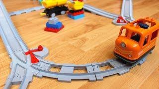 trains Toys 4 sets of LEGO Duplo for kids  Поезда 4 набора Лего Дупло для детей