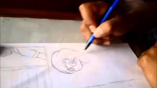 "Live Drawing - Proyecto ""Eriina"" storyboard pagina 4 by: the dark mangaka"