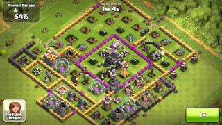 Clash of Clans : LVL 6 Giants and Level 3 Healer and Max Wizards