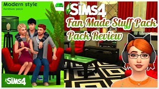 Modern Style Furniture Fan Made Stuff Pack Review || The Sims 4