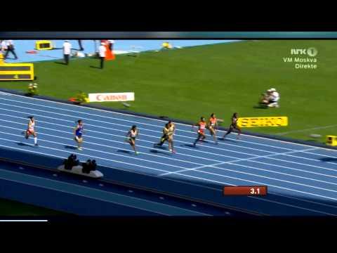 Moscow 2013 Women 100M Heat 2 IAAF World Championship