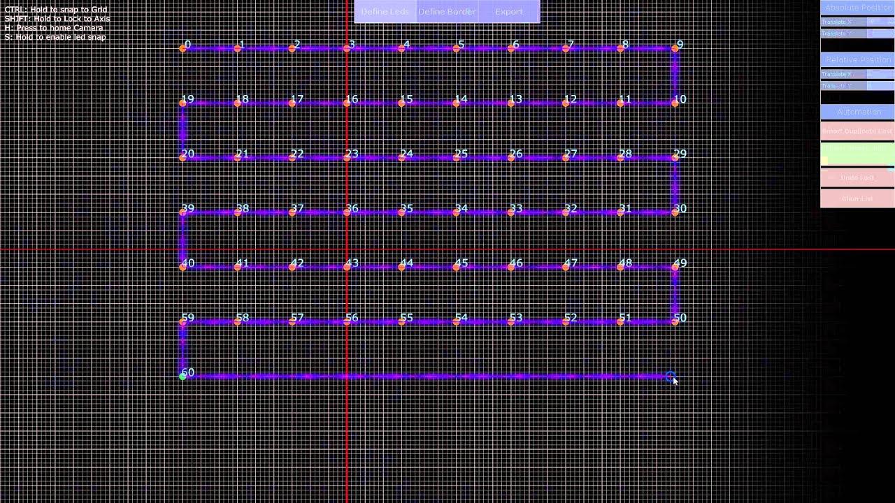 LED Panel Creator - Touch Designer - WIP#2
