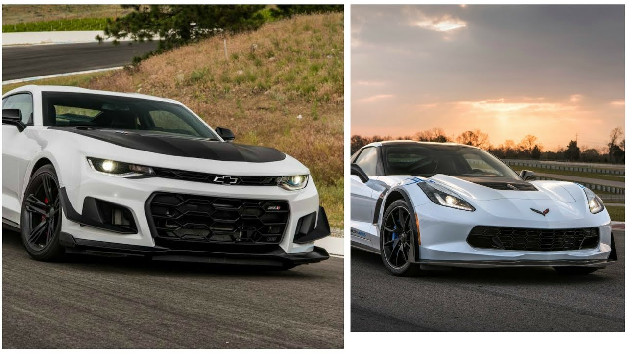 2017 Corvette Zo6 Vs 2018 Camaro Zl1 1le Youtube