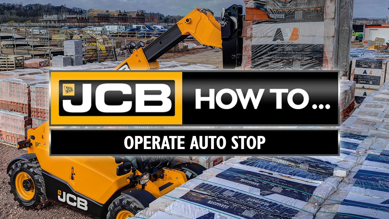 Auto-Stop Engine Feature Explained – JCB Loadall Stage V Telehandler