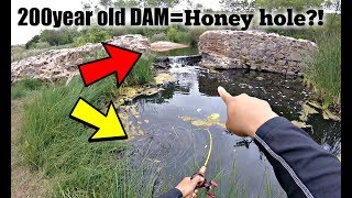 Fishing at a 200 YEAR OLD DAM (NEW PERSONAL BEST) [San Diego]