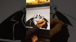 Live Drawing of The Clown from Spawn