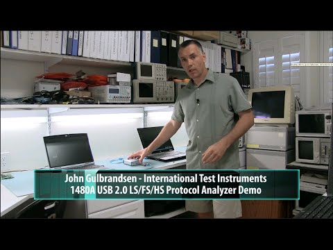 ITIC 1480A USB 2.0 LS/FS/HS Protocol Analyzer Demo