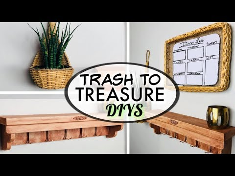 Trash To Treasure  Thrift To Treasure- Diy Farmhouse Kitchen Wall Decor
