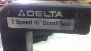 Delta 2 Speed 16 Inch Scroll Saw Item-76 At Www.boldbids.com Aucioneers And Appraisers