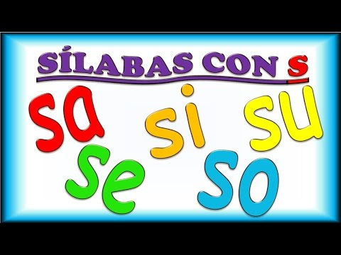 Sílabas con S para Niños, sa se si so su, Ejemplos y Música, Syllables in Spanish for Children