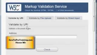 HTML5 Training Series (HTML 5) - Tutorial 4 - HTML5 Page Validation