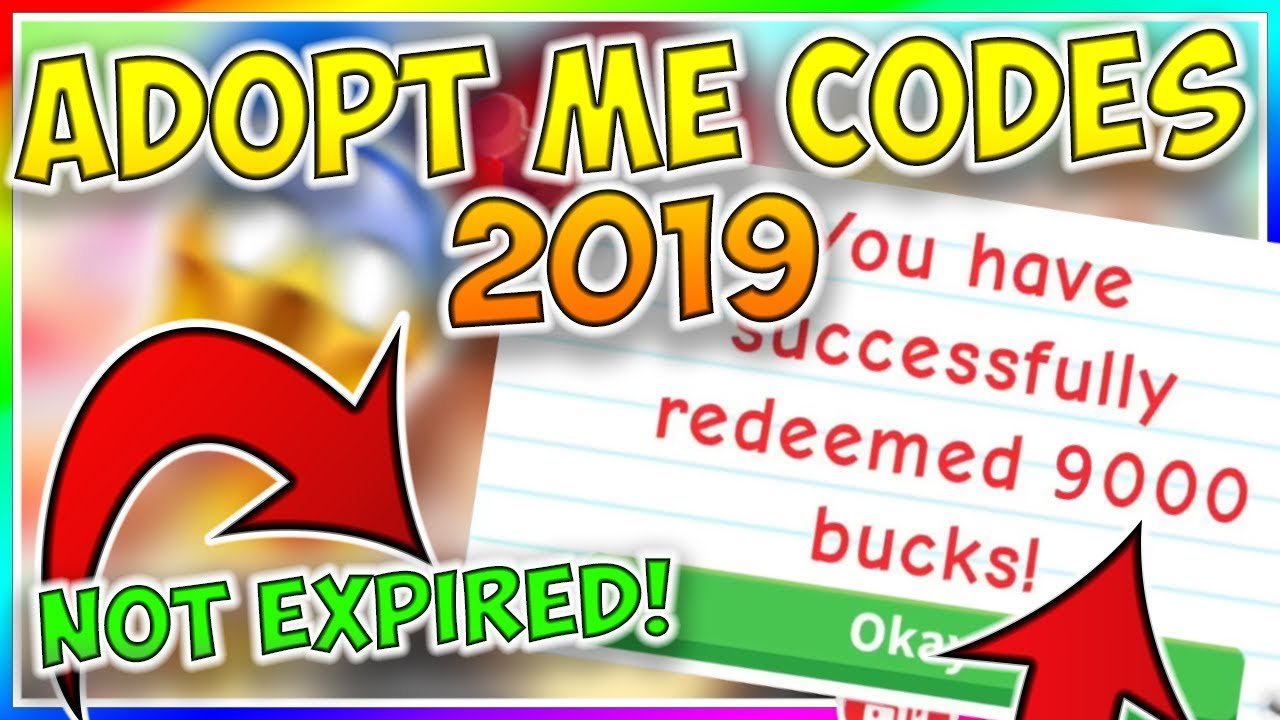 Adopt Me Codes (Roblox) [2019]