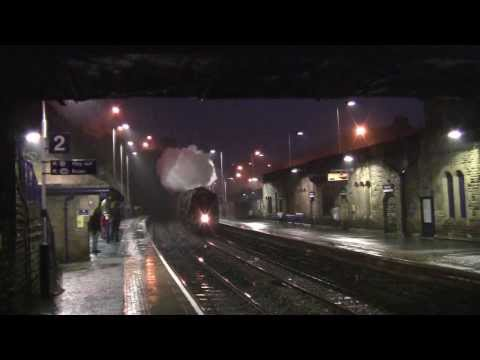 Mossley Railway Station - featuring LMS Coronation 46233 Duchess of Sutherland