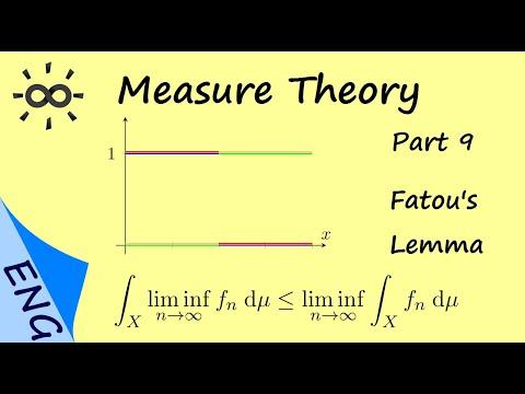 Measure Theory - Part 9 - Fatou's Lemma