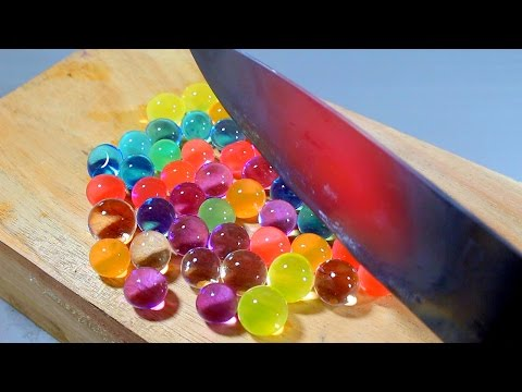 Thumbnail: EXPERIMENT Glowing 1000 degree KNIFE VS ORBEEZ BALLS