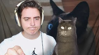 TEACHING MY CAT HOW TO PLAY ROBLOX