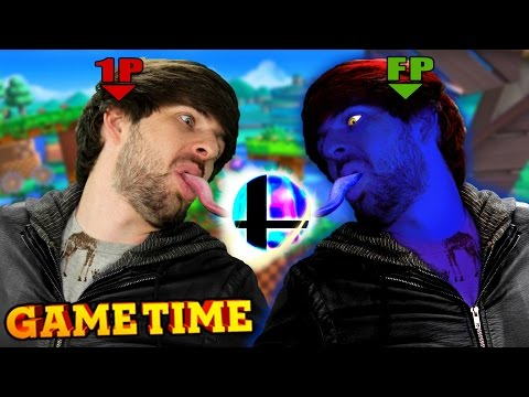 LEVELING OUR AMIIBOS IN SUPER SMASH BROS (Gametime w/ Smosh Games)