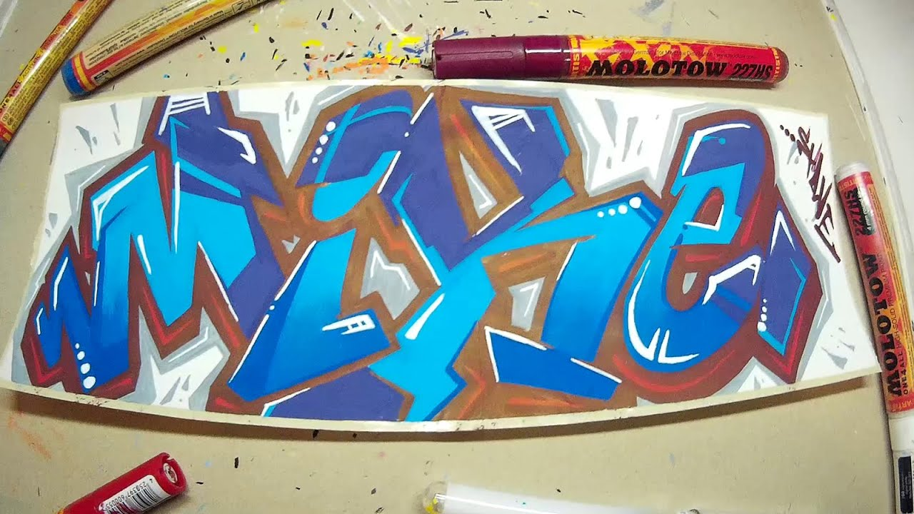 Mike In Graffiti Letters
