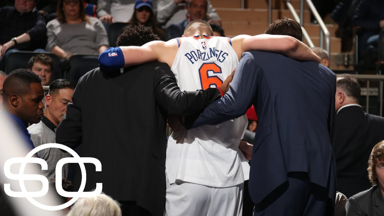 Kristaps Porzingis sidelined with a torn ACL | SportsCenter | ESPN