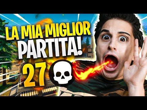 27 KILL, NON CI CREDO! LA 'MIA' MIGLIOR PARTITA! Fortnite Battle Royale