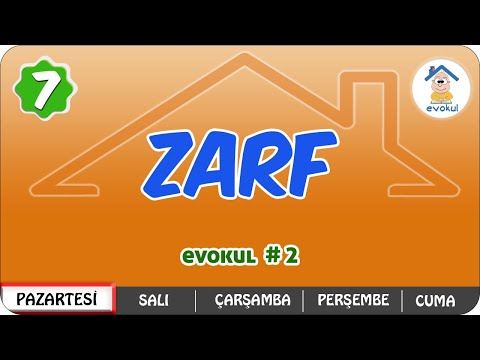 Zarf (Belirteç) | 7. Sınıf #uzaktaneğitim #evokul Kampı