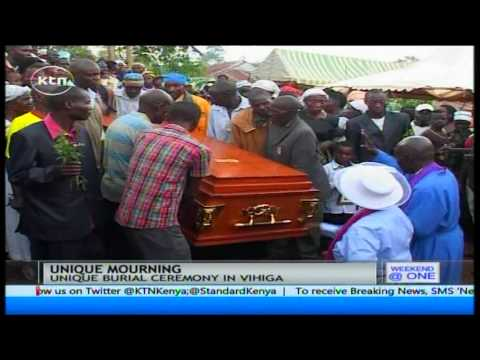 Unique burial ceremony in Luanda village in Vihiga County