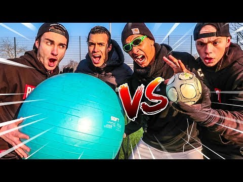 RIESEN BALL VS MINI BALL FUßBALL CHALLENGE !