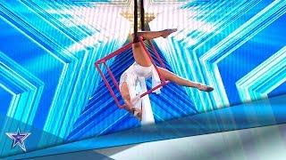 Con solo 10 años, hace ACROBACIAS como una PROFESIONAL | Audiciones 10 | Got Talent España 5 (2019)