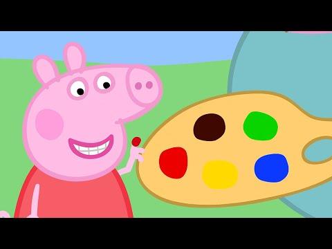 Peppa Pig Français 🎨 Peppa Apprend À Peindre   Compilation Spéciale   Dessin Animé Pour Bébé