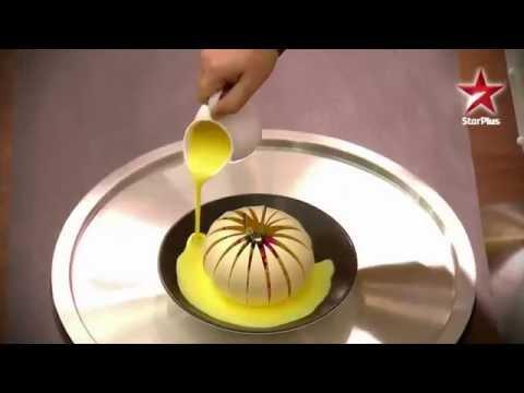 Ghewar In a Chocolate Flower